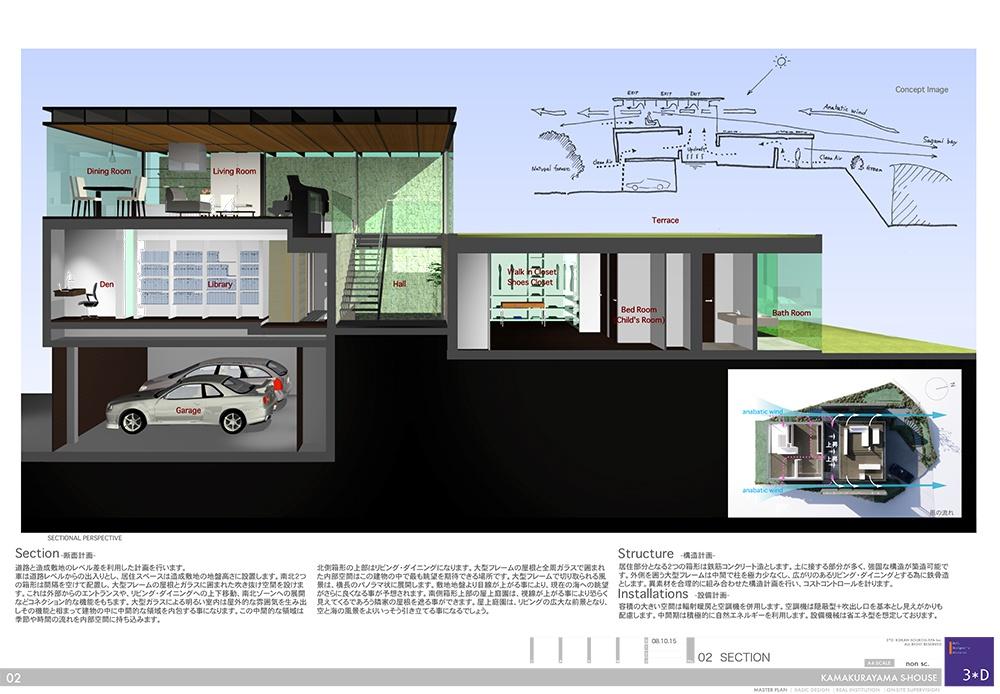 3D鎌倉山S邸02