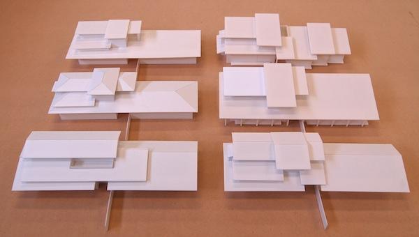 和風外観注文住宅-屋根模型