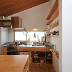製作キッチン 家具 飾り棚