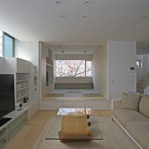 東京タワーと桜の見える家[RC外断熱の二世帯住宅]