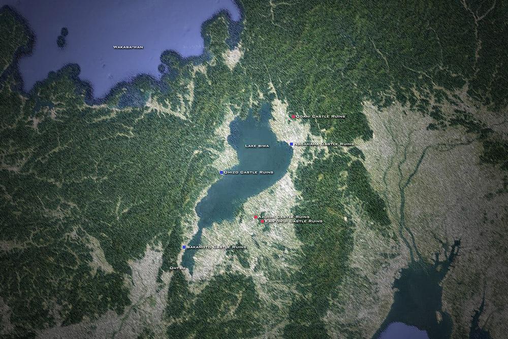 琵琶湖周辺の城