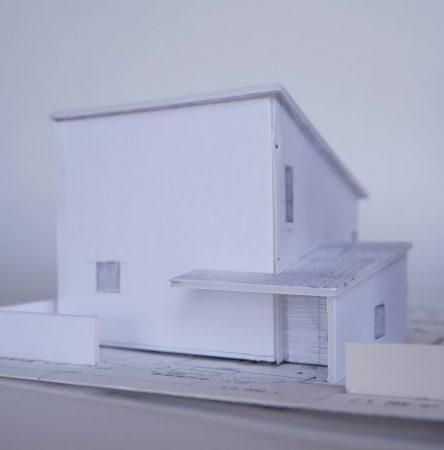 音楽室のある家-模型写真01