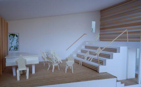 音楽室のある家-模型写真02