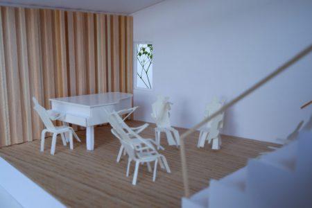 音楽室のある家-模型写真05