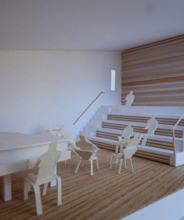 音楽室のある家-模型写真04